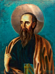 St Paul icon painting by Paintsmudger