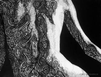 Ink Knot Work Nude WIP by Paintsmudger