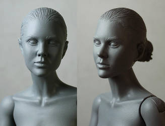 Liara's head with hair and ears by redner