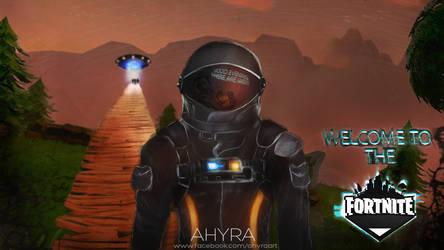 Fortnite Astronaut - Dark Voyager by Ahyra
