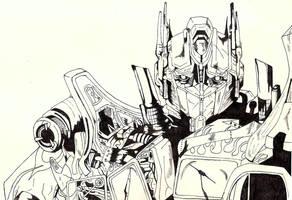 Optimus Prime by Charlie-Skellington