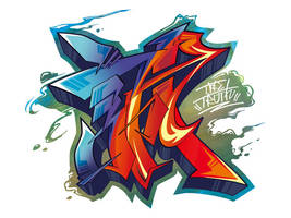 Japanese KANJI Graffiti MAKOTO by Takihisa