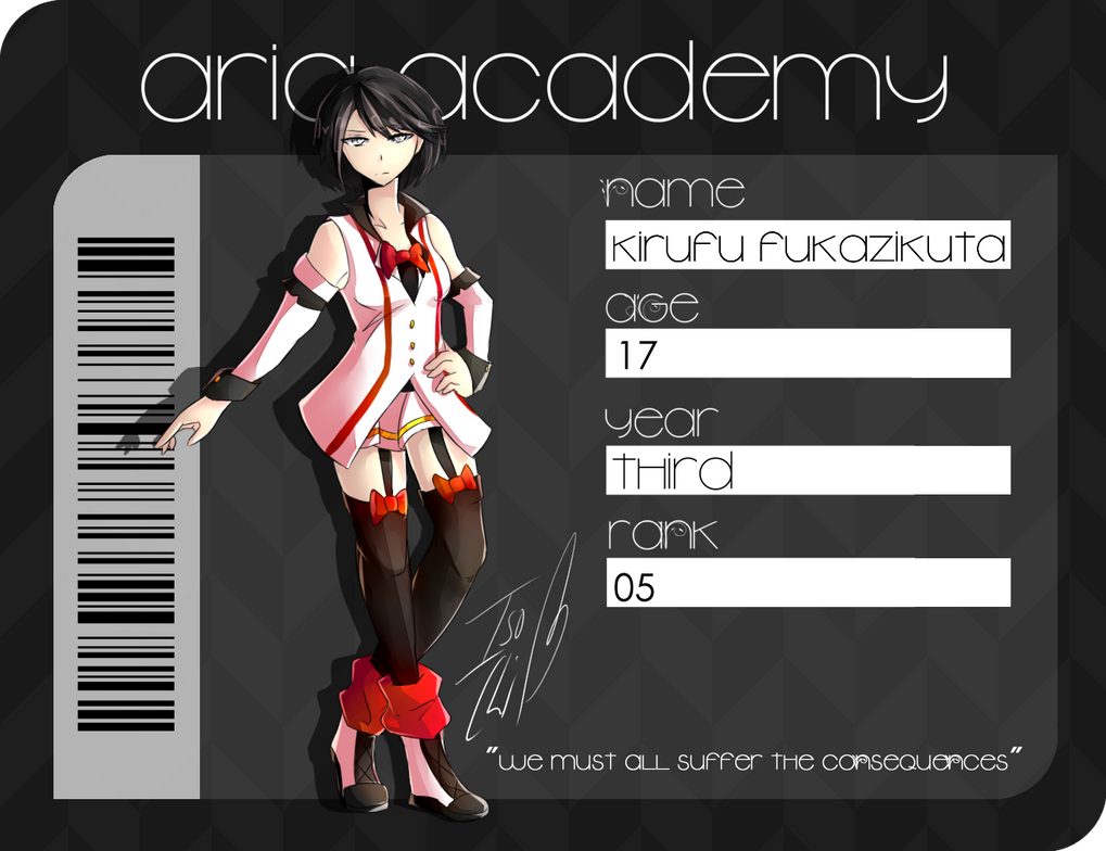 { App } Kirufu Fukazikuta - Aria Academy (AA) by IsoChi