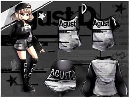 [D] Agust D Themed Design {//SPEEDPAINT\\} by IsoChi