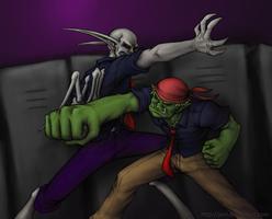 Monster Rivalry: Ork Vs. Gargoyle by JenL
