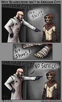 Why Scarecrow isn't in Arkham City by JenL