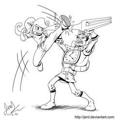 Crash Battles - Coco Bandicoot VS N. Tropy by JenL