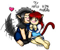 VxK--Wolf-Kitty Love by LadyMangatsuGallia90