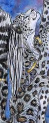 Snow Leopard Bookmark by autumnjaguar