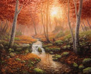 Autumn Stream by Irbeus