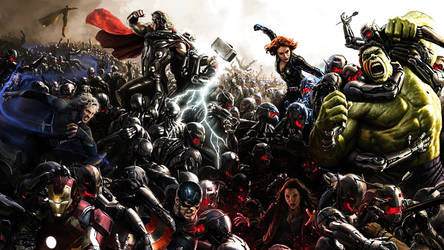The Avengers: Age Of Ultron Comic-Con Poster by ProfessorAdagio