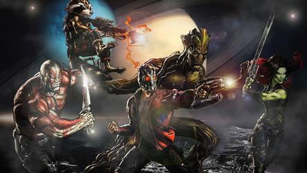 The Guardians Of The Galaxy by ProfessorAdagio