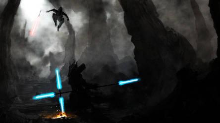 The Jedi Vs. The Sith by ProfessorAdagio