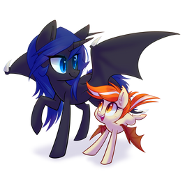 Midnight and Squeaks by Hollulu