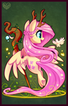 DnD Pony Series: Druid Fluttershy by Hollulu