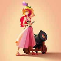 Samurai Pinkie Pie by guywhodoesart