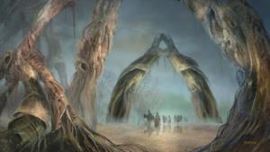 Tolkien's forest by Dapasg