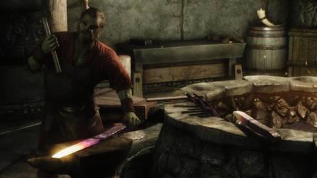 Skyrim: NPC Blacksmith in Markath by haunted-passion