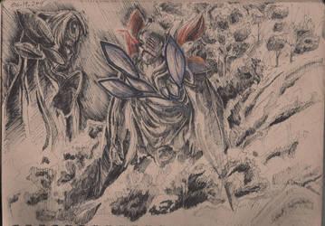 Tokyo Ghoul Ink Sketch by xAnacondax