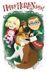 2011 Christmas card cover by Haaspodge