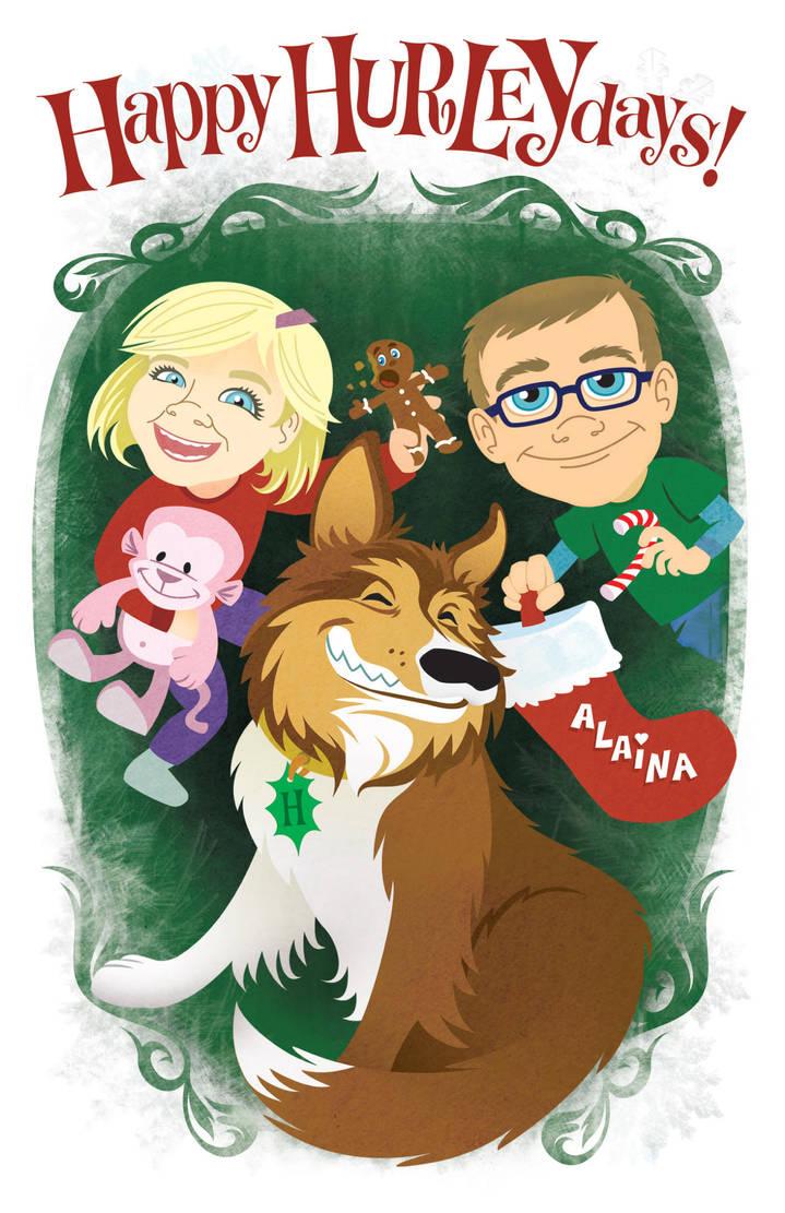 2011 Christmas card cover by Haaspodge