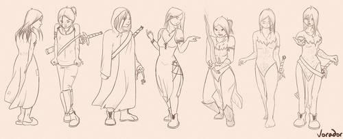 Fantasy character evolution (Eyleane) by Vorador2114