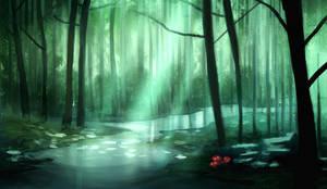 Forest speedpaint by JonathanMacgregor