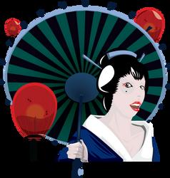 A Geisha by ShiftyRonin