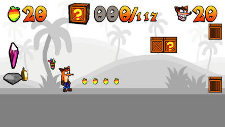 Crash N. Tense Adventure HUD by Jargonfox