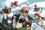 Hayao Miyazaki Tribute by Juggernaut-Art