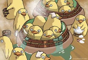 Duckling Bath - Spirited Away by Juggernaut-Art