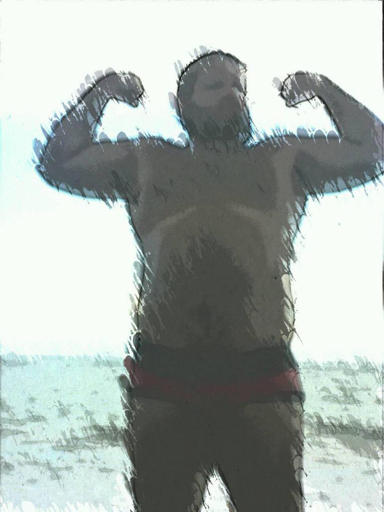 fatboy flexing by slugpitcher