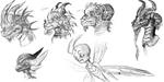Legend of Spyro character studies by OmicronWanderer