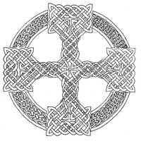 Celtic Cross lineart by maggiebr