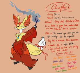 Aria Fleur Delphox by HeavensDreams