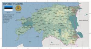 Republic of Estonia: Telephone Map Game III by zalezsky