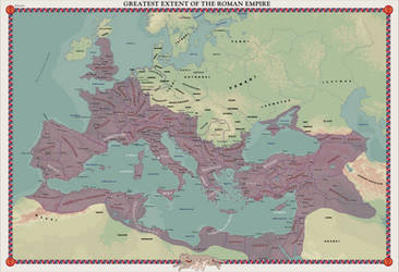 HAoE: Greatest Extent of the Roman Empire by zalezsky