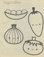 Kawaii Vegetables by natalia-factory