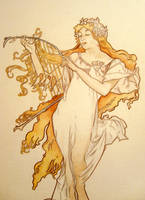 Spring - Mucha copy by cocoa-forget-me-not