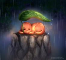 In the rain by iAzurine