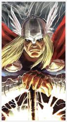 Thor sketch Color by qualano
