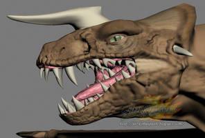 my 3d dragon's head by derkomai3523