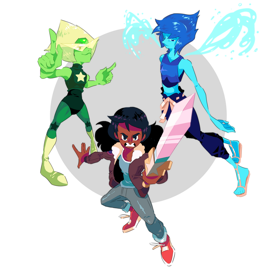 "Drawing everything that was broadcasted during the episode ""Change Your Mind"" of Steven Universe is taking me way longer than it should ! Here are Peridot, Lapis and Connie as they appear with thei..."