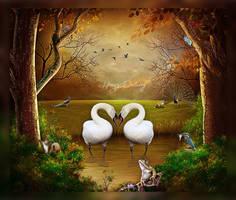 Swan Romance by HayzPaling