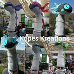 WIGGLER HEAD Armor Monster Hunter World Hat Scarf by kopeskreations