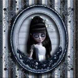A Dark Bride's Portrait by Mina-Ficent