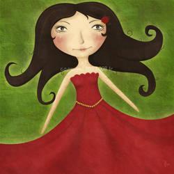 Rod som rosen by LillemorGull