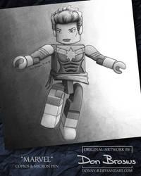 Captain Marvel Minimate by Donny-B