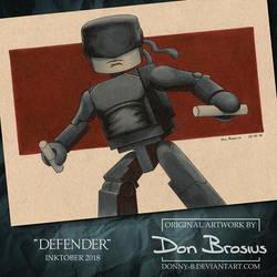 Inktober 2018 - Defender by Donny-B