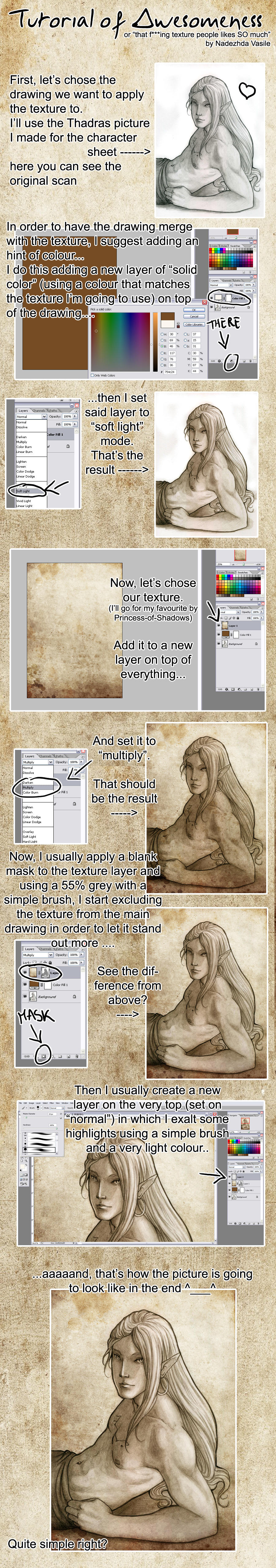 How I add texture by SerenaVerdeArt